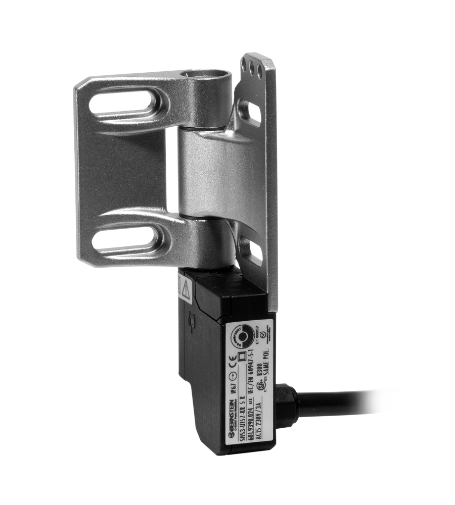 Safety switch for hinged applications